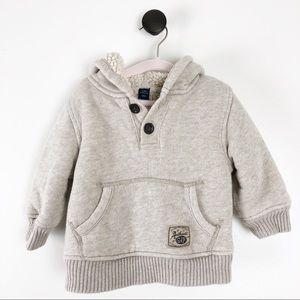 Gap Sherpa Lined Hooded Sweatshirt Baby Boy 12-18
